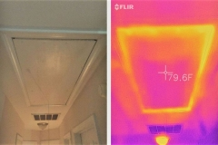 Heat Signature on Typical Attic Door Before Radiant Barrier